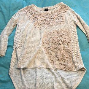 Free People Reflection Crochet Romantics Sweater